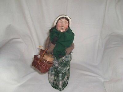 Byers Choice Ltd. The Carolers-1995 Woman With a Basket and Goose Caroler