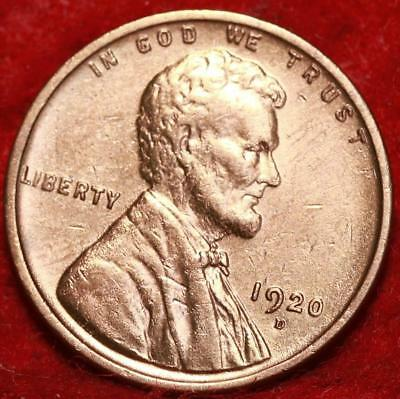 Uncirculated Red 1920-D Denver Mint Copper Lincoln Wheat Cent