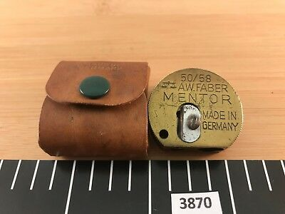 Vintage A.W. Faber 50/58 Mentor Germany Brass 3 Size Drafting Pencil Sharpener
