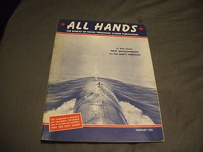 ALL HANDS NAVY/NAVAL/MILITARY Magazine - February 1965