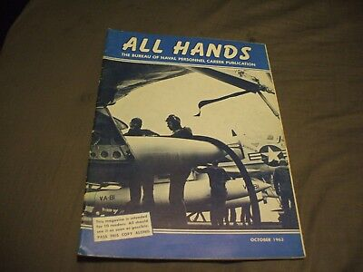 ALL HANDS NAVY/NAVAL/MILITARY Magazine - October 1963