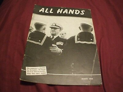 ALL HANDS NAVY/NAVAL/MILITARY Magazine - March 1958 - #2