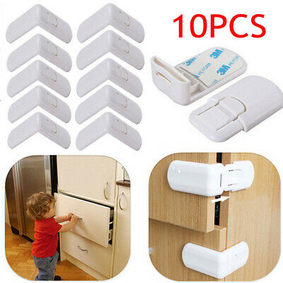 NEW 10pcs Child Kid Baby Safety Cabinet Door Fridge Drawer Cupboard Lock Latch