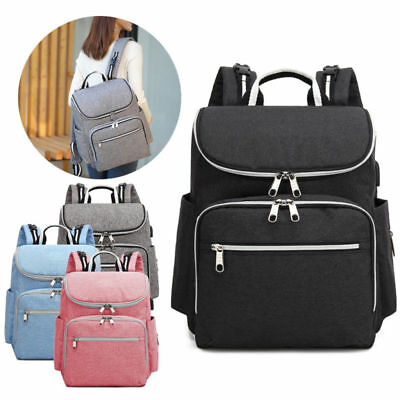Upgrade Mummy Backpack Diaper Bags Large Multifunctional Baby Nappy Changing Bag