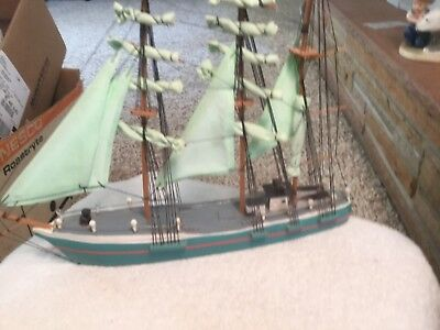 Vintage Model Sailboat Ship by Beachcombers- Wood