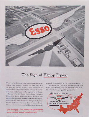 1946 Esso Aviation Products Ad