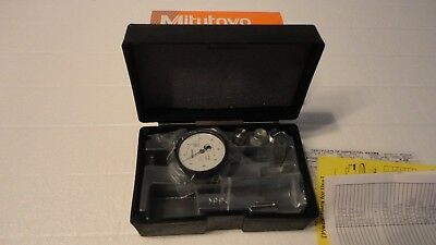 """New Mitutoyo 513-443-10A, Dial Test Indicator, .0001"""", White Face Dial"""