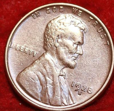 Uncirculated 1928-S San Francisco Mint Copper Lincoln Wheat Cent