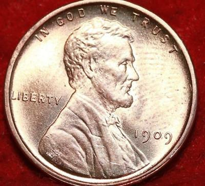 Uncirculated Red 1909 VDB  Philadelphia Mint Copper Lincoln Wheat Cent