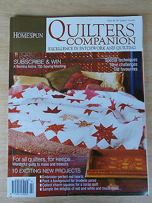 Quilters Companion #2~Cabbage Rose~Paisley~Tennessee Waltz~Angels~Redwork...