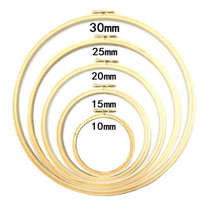 Wooden Rings Embroidery Hoops Frame Cross Stitch Needlecraft Placement 10-30cm