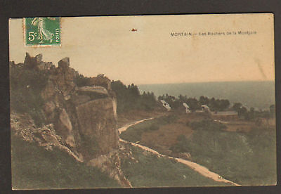 MORTAIN (50) VILLAS & ROCHER DE LA MONTJOIE en 1908