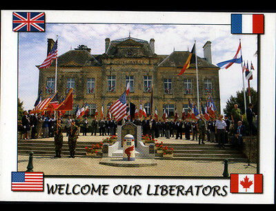 "SAINTE-MERE-EGLISE (50) Cérémonie ""WELCOM OUR LIBERATORS"" du 6 JUIN 1944"
