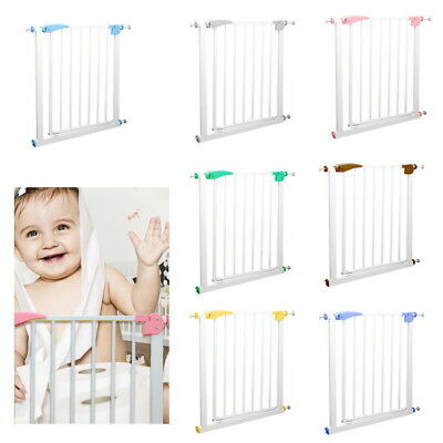 HOT Wide Extending Safety Steel Gate for Stairs Baby Kids Toddler Dog Protection