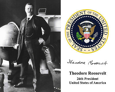 Theodore Teddy Roosevelt 26th President Presidential Seal 8 x 10 Photo Picture