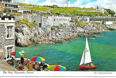 Plymouth, -The Hoe - from the sea - Used Postcard