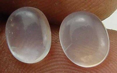 1.90 CT Natural Silver White Moonstone Moon Stone Gems Pair for Earings 10081515