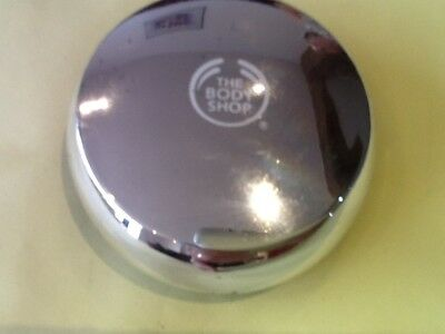 THE BODY SHOP-ALL IN ONE FACE BASE/DOUBLE FUNCTION-No.3-  9g-SILVER COMPACT-NEW