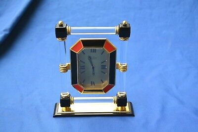 Hour Lavigne A Paris Depuis 1848 Reveil Horloge De Table Circa 1980 Rare Quartz
