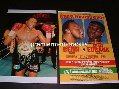 NIGEL BENN v CHRIS EUBANK 1990 THE DARK DESTROYER 2 X PHOTOGRAPHS