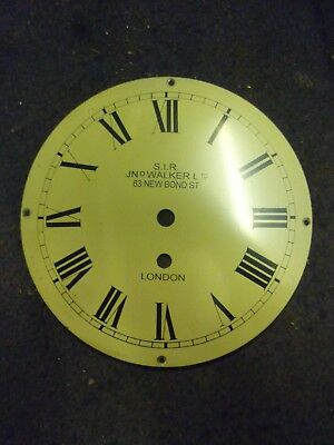Cream Coloured 8 Inch Fusee Clock Dial Marked SIR Walker Ltd 4 Available