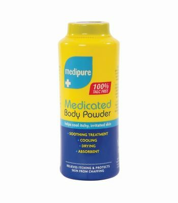 Medipure Medicated Body Powder 100% Talc Free Helps Cool Itchy, Irritated Skin