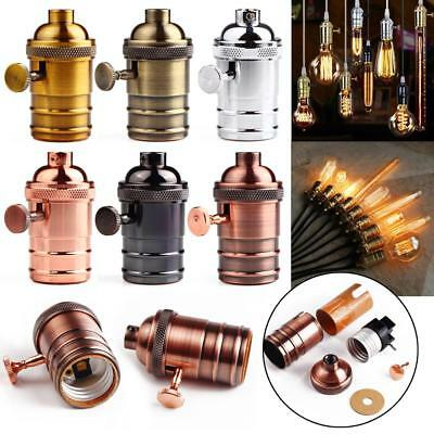 E26/E27 Retro Vintage Antique Edison Industrial Lamp Light Bulbs Holder Socket