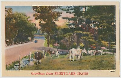 Vintage Postcard Greetings from Spirit Lake, Idaho