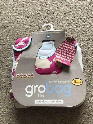 Girls The Gro Company Anorak Pink Kissing Rabbits Grobag Age 6-18 Months BNWT