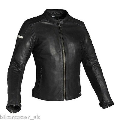 RICHA Daytona Ladies classic Leather Jacket 5 Pcs CE Armour Approved