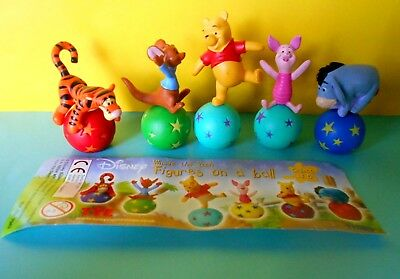 WINNIE THE POOH FIGURES ON A BALL  COMPLETA  Edition Tomy