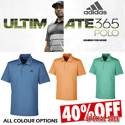 Adidas Mens Golf Polo Shirt Ultimate 365 Performance / All Colours + Sizes *New*