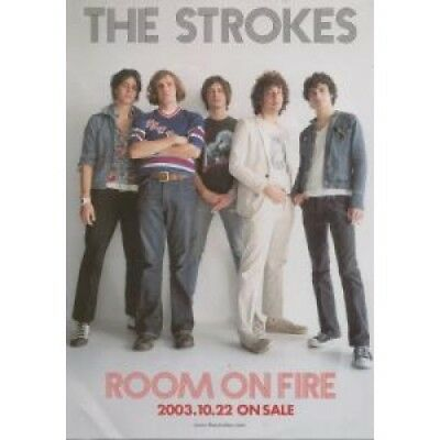 STROKES Room On Fire FLYER Japan Rca 2003 Approx 22Cm X 15Cm Full Colour Promo