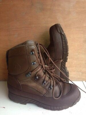 Size 12 genuine brown combat high liability haix boots! Excellent!hardly Used!