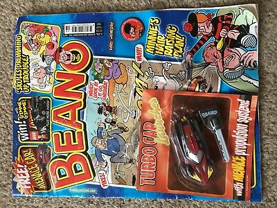 Beano Comic Magazine With Free Toy On Front Unused Original Turbo Car Launcher
