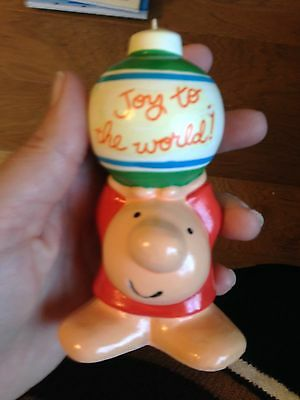 Vintage 1981 Joy To The World Ziggy Christmas Ornament With Free Shipping