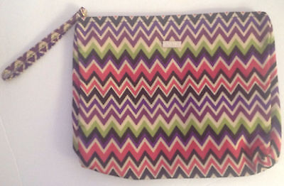 Tarte Multi-Color Zigzag print Cosmetics Bag (makeup bag)  - Brand New!