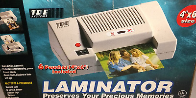 "NEW TDE Systems Laminator Laminating Machine System 4"" X 6"""