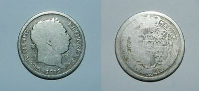 Great Britain :  George Iii - Silver Shilling 1819