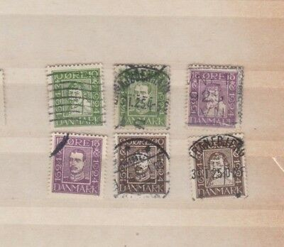 A Good Cat value Denmark 1924 group with Head to Left