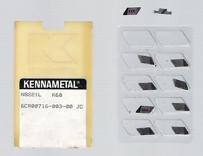 Kennametal grooving inserts  NG221L  K68