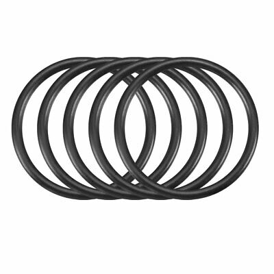 30Pcs 34mm x 3.1mm Black Flexible Nitrile Rubber O Ring Oil Seal Washer Grommets