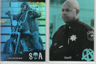 Sons Of Anarchy Seasons 4&5 - Lot of 4 Different Rainbow Parallel Cards /25