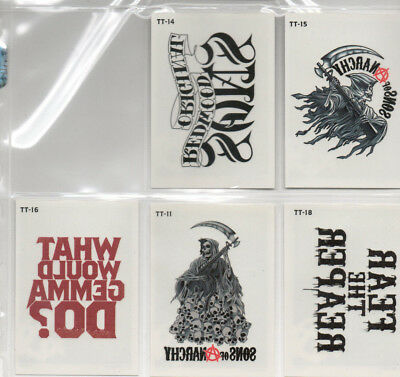 Sons Of Anarchy Seasons 4&5 - Lot of 5 Different Temporary Tattoo chase cards