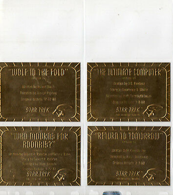Star Trek TOS Season 2 - Lot Of 4 Gold Plaque chase cards EX Skybox 1998