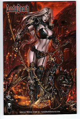 Lady Death Chaos Rules #1 Inferno Edition Jesse Wichmann Variant Unsigned 2016