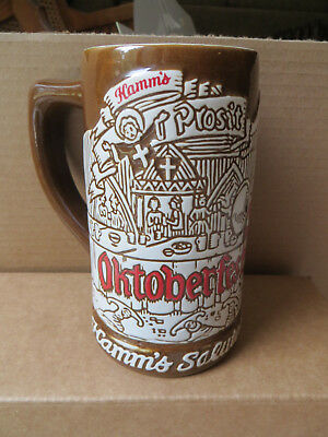 1973 Hamm's Octoberfest Beer Stein Mug With The Bear