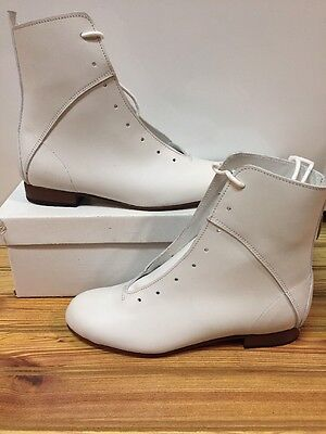 High Country, Size 5 W WOMENS Clogging Tap Dance boots, Shoes, (no Taps) WHITE