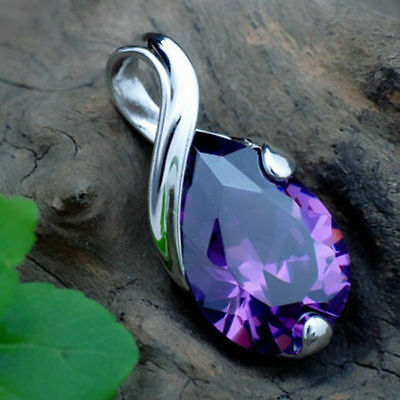 For Heal Necklace Pendant Gemstone Crystal Chakra Stone Amethyst Natural Point