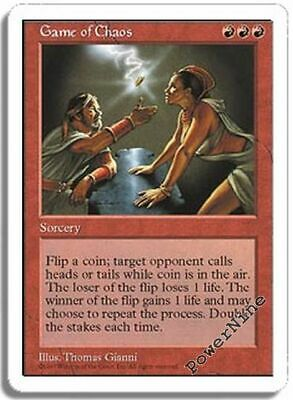 1 PLAYED Game of Chaos - Red Fifth 5th Edition Mtg Magic Rare 1x x1